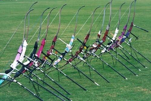 recurve bow line up