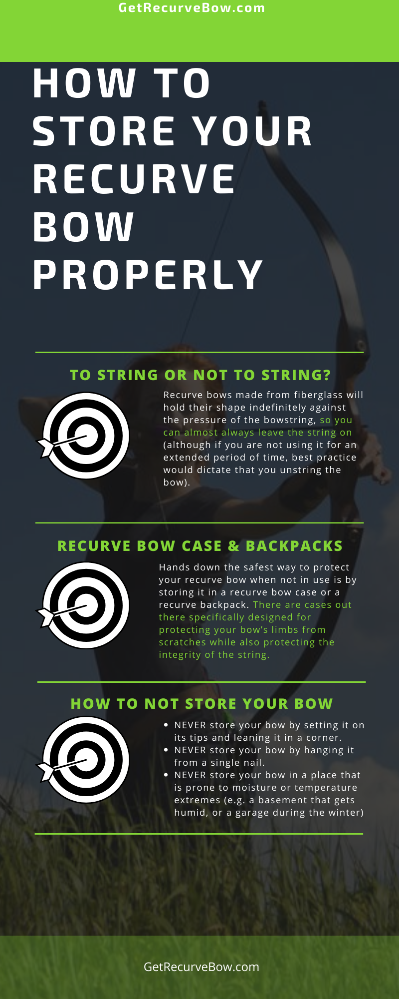 How To Store Your Recurve Bow